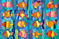 Warm And Cool Color Art Projects Kindergarten 32 Ideas Color Art Lessons, Art Lessons For Kids, Art For Kids, Kindergarten Art Lessons, Art Lessons Elementary, Warm And Cool Colors, 3rd Grade Art, Ecole Art, Cool Art Projects