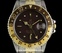 #Rolex S/G O/P #Rare #Nipple Dial #Root Beer Bezel #GMT-Master Vintage 1675/3