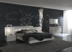 Charishmatic Bedroom Ideas : Charishmatic Bedroom Decorating Ideas For Men With Wallpaper And Unique Table Lamps Image id 29854 - GiesenDesign