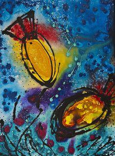 Tropical Flower Fish Painting  - Tropical Flower Fish Fine Art Print