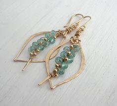 Apatite Petite Tusk Hoops / Sarah Hickey Jewellery