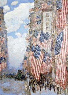 Frederick Childe Hassam - The Fourth of July, 1916 (The Greatest Display of the American Flag Ever Seen in New York, Climax of the Preparedness Parade in May) - art prints and posters