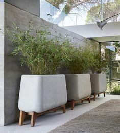 Indigenus Terra Planter with Base - Trough - Juniper House Outdoor Spaces, Outdoor Living, Outdoor Decor, Hanging Plants, Indoor Plants, Self Watering Plants, Trough Planters, Concrete Color, Concrete Planters
