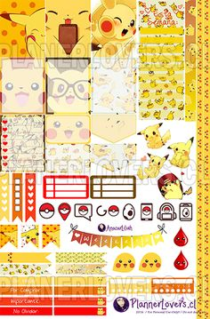 FREE Planner Stickers and Organizers FREE Lovely Pikachu – Planner Stickers Printable | Anacar Lilian