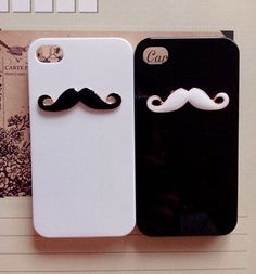 Mustache iPhone Case iPod 4 Case Galaxy S4 by SamsungiPhoneCases, $8.90. Cute cute and double cute!