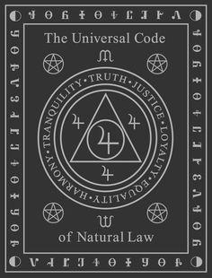 ✯ Universal Code of Natural Law,By Robert Paul Jamison ✯ Occult Symbols, Magic Symbols, Occult Art, Viking Symbols, Ancient Symbols, Egyptian Symbols, Viking Runes, Magick Book, Wiccan Spell Book