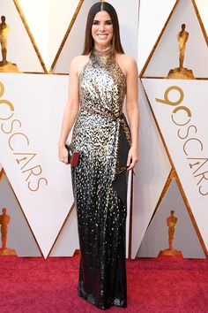 See All the 2018 Oscars Red Carpet Arrivals - Sandra Bullock from InStyle.com