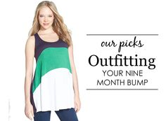 How to Dress Your Nine-Month Bump - Project Nursery #maternity #style