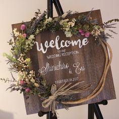 Welcome board - Wedding Prep, Wedding Goals, Wedding Table, Diy Wedding, Wedding Flowers, Fall Wedding, Wedding Welcome Board, Welcome Boards, Table Planner