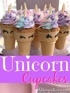 These Unicorn Cupcakes are the perfect addition to any birthday party or just to brighten a special someone's day! An adorable unicorn DIY. #unicorns #unicorn #unicorncupcakes