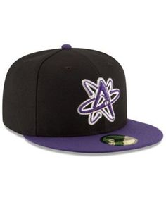 615c5061d6196 New Era Albuquerque Isotopes Ac 59FIFTY Fitted Cap - Black Purple 6 7 8