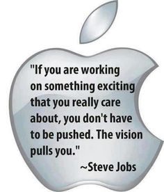 Let the vision pull you...