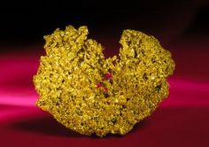 This delicate, crystallized gold specimen was found in Leadville, Colorado.
