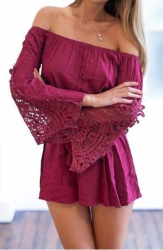 a4ee3ba7c57e Long Sleeve Lace Stitching Conjoine Long Sleeve Romper