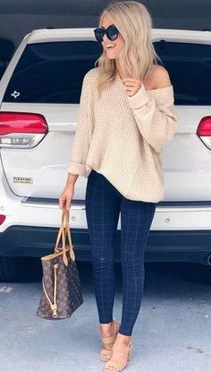 55 dazzling summer outfits to impress everyone 81 ~ Litledress 55 umwerfende Sommeroutfits, die jeden beeindrucken 81 ~ Litledress – Perfect Fall Outfit, Cute Fall Outfits, Fall Winter Outfits, Spring Outfits, Trendy Outfits, Autumn Outfits Women, Fashion Mode, Look Fashion, Daily Fashion