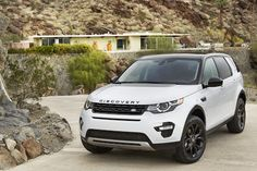 White on black Landrover Discovery Sport