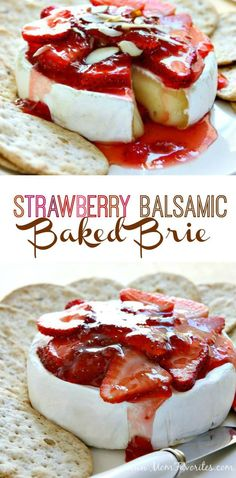 Strawberry Baked Brie Girl's Night! Celebrate with Middle Sister Wines and this fabulous Strawberry Baked Brie Recipe. A perfect wine pairing recipe for summer entertaining. Snacks Für Party, Appetizers For Party, Appetizer Recipes, Girls Night Appetizers, Baked Brie Appetizer, Wine Appetizers, Cheese Appetizers, Appetizer Ideas, Baked Brie Recipes
