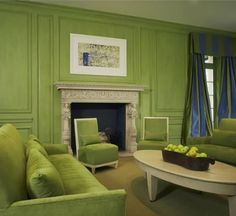 The very green family room