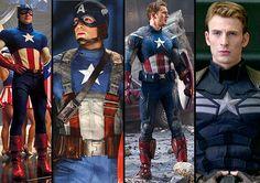 Captain America: The First Avenger, Marvel's The Avengers and Captain America: The Winter Soldier.