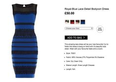 The debate is over. The dress that had the Internet booking eye appointments is ... *drumroll* ... black and blue.