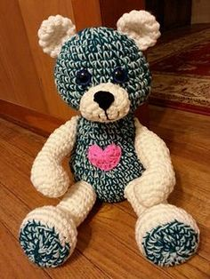 Prayer Bear Head: With green and mint yard together: Chain 2 Row 1: 6 sc in 1st stitch, place marker to designate end of each row. Row 2: 2sc in each stitch (12 sc) Row 3: (Sc in next sc, 2 sc i...