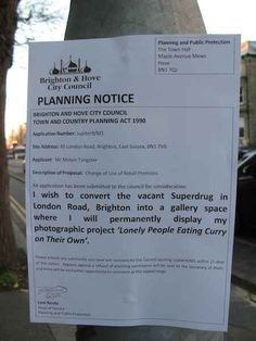 Someone Has Been Trolling Brighton With Hilarious Fake Planning Notices