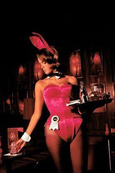 Playboy bunny at work