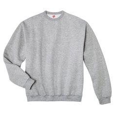 Hanes Premium Men's Fleece Crewneck Sweatshirt - Gray M, Gray Heather