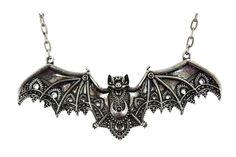 Restyle Dark Side Bat Vespertilio Gothic Vampire Bat Pendant Necklace