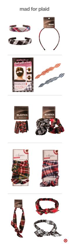 Welcome the chilly fall weather with a cozy, on-trend look – Plaid Hair Accessories. Plaid is back! And it looks oh so good on these fun and funky headbands, ties and wraps for your hair. Accessorize any outfit with a plaid headband – it's just the pop of color you need to brighten your day.