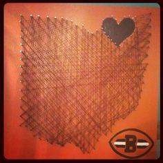 Cleveland Browns String Art 16x16 by Trash2Treasure83 on Etsy, $45.00