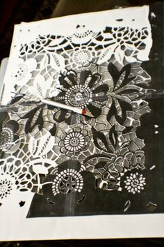 LACE STENCIL | Good Things Come to those that Wait: DIY Lace Stencil