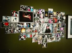 Photo montage on wall by Dean Dorat