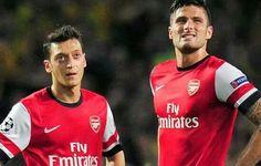 Arsenal's Ozil & Giroud