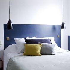 Une tête de lit colorée