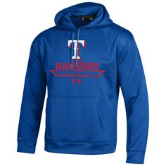 Texas Rangers Under Armour Performance Fleece Pullover Hoodie - Royal - $73.99
