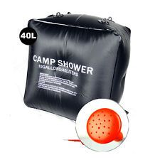 Folding Solar Camp Shower Water Bathing Bag 40L 10 Gallons Black