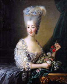 A portrait of the comtesse d'Artois by François-Hubert Drouais, circa 1775.