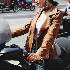 Bad Girl Zip-Zip Jacket | Universe Woman Jacket Brands, Shoe Size Chart, Size Clothing, Leather Jacket, Zip, Universe, Jackets, Coats