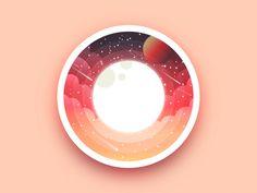 Space moon badge by Julien #Design Popular #Dribbble #shots