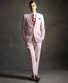 Pink Gatsby suit! (From Brooks Brothers Great Gatsby Collection)