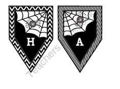 Happy Halloween Banner from Ragsdales Riches on TeachersNotebook.com -  (32 pages)  - A cute Halloween banner for any room.