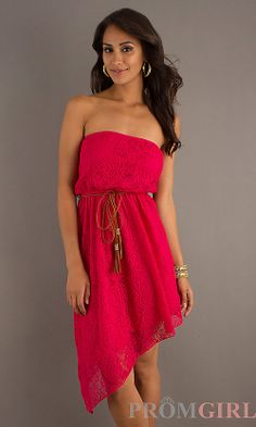 Short Strapless Casual Dress