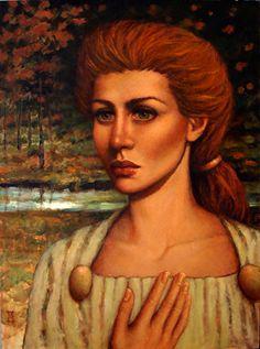 """DEMETER by Mollie Erkenbrack Oil ~ 16"""" x 12"""", Available."""