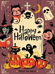 Halloween Meme, Halloween Playlist, Retro Halloween, Vintage Halloween Cards, Fröhliches Halloween, Halloween Greetings, Holidays Halloween, Halloween Images Free, Happy Halloween Quotes