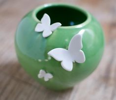 Ceramic Bowl with butterflies