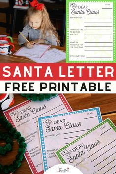 Use these free colorful Letter to Santa printables for kids to write down their holiday wish list! Download these free templates with sections for a Christmas wish list, bucket list of seasonal activities and thankfulness thoughts. Additional ideas on clever ways to deliver these Santa letters! #Holidays #Christmas #SantaLetter #LettertoSanta #Printables #FreePrintable #Freebies