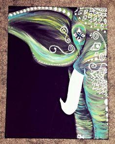 Elefante Bohemia color turquesa por GypsyTwistArt en Etsy Más