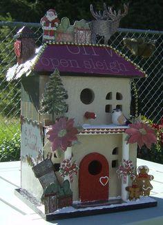 ⓛⓞⓥⓔ  .ツHoliday Season-Christmas Bird House  even birds need to decorate! for xmas