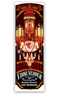 Eddie Vedder Memphis, I WAS THERE!!! And own this poster, thanks to the hubs